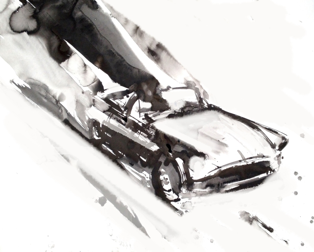 ATTACK #10, ink on cotton rag, 200cm x 150, 2014